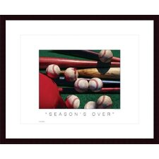 <strong>Barewalls</strong> Season's Over Wood Framed Art Print