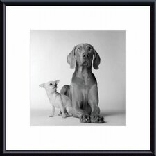 Max and Roxie Metal Framed Art Print