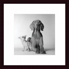 Max and Roxie Wood Framed Art Print