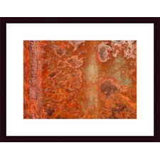 <strong>Barewalls</strong> Orange Rust Abstract Wood Framed Art Print