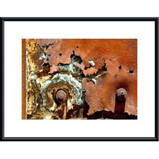 <strong>Barewalls</strong> Concentric Rust Abstract Metal Framed Art Print