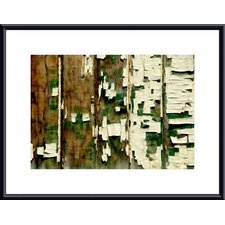 Paint Chip and Wood Abstract Wood Framed Art Print