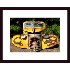 <strong>Barewalls</strong> Yellow Truck Metal Framed Art Print
