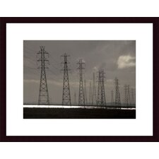 <strong>Barewalls</strong> Power Lines Wood Framed Art Print