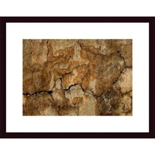 <strong>Barewalls</strong> Cracked Wall Abstract Wood Framed Art Print