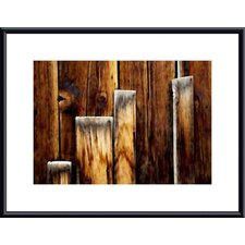 Weathered Wood Planks Wood Framed Art Print
