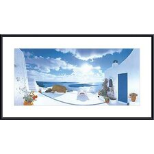 Mediterranean Afternoon by George Meis Metal Framed Art Print