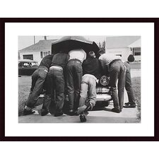 Boys with Their First Car, 1957 by A. Owen Wood Framed Art Print