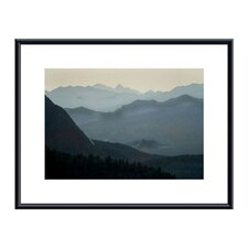 Distant Peaks Metal Framed Art Print