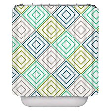 Diamonds Pellerina Designs Polyester Shower Curtain