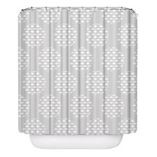 Geese Polka Pellerina Designs Polyester Shower Curtain