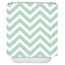 Chevron Pellerina Designs Polyester Shower Curtain