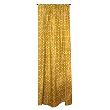 Trellis Cotton Rod Pocket Curtain Single Panel