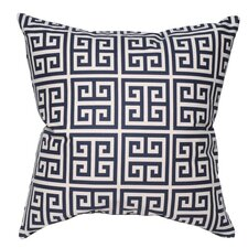 <strong>Elisabeth Michael</strong> Greek Key Cotton Pillow