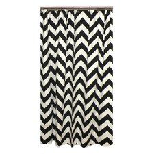 <strong>Elisabeth Michael</strong> Chevron Cotton Shower Curtain