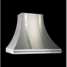 "36"" 600/900E CFM Designer Wall Hood with Pot Rail"