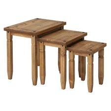 """3-tlg. Tisch Set """"Newburgh"""" aus Holz"""