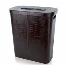 Croco Grained Laundry Box in Brown
