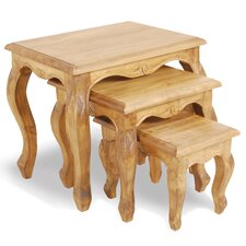 Classic Pine 3 Piece Nest of Tables