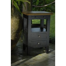 Painted Provence 2 Drawer Bedside Table