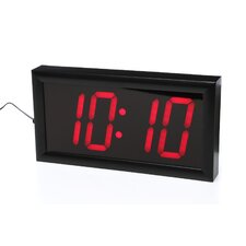 "<strong>Big Time Clocks</strong> Jumbo 4"" Numbers LED Digital Alarm Clock with Remote"