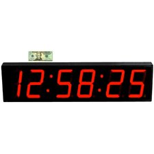 "Large 7"" Digit LED with Remote Control Clock"