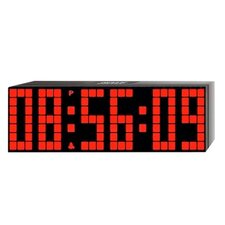 <strong>Big Time Clocks</strong> Lattice LED Digital Alarm / Countdown/Up Clock with Remote