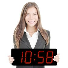 "Huge 5"" Numbers-High Visibility Patented Elegant Laser LED Clock"