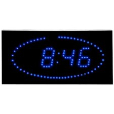 Super Bright LED Ellipse Blue LED DOT Clock