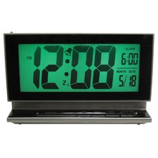 Elgin Large Multifunction LCD Alarm Clock with Smartlite Technology