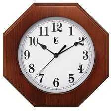 Octogaon Solid Wood Clock