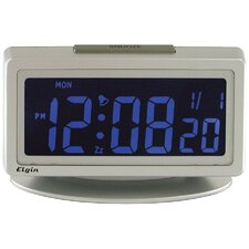 "Elgin 1.8"" LCD Pick Your Color Alarm Clock"