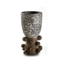 Sedona Pottery Unique Leaf Print Vase