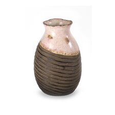 Pink and Brown Distressed Vase