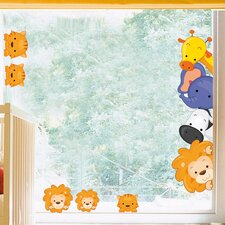 Wild Animals Window Sticker