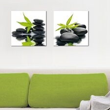 Deco Glass Reflections 2 Piece Photographic Print Set
