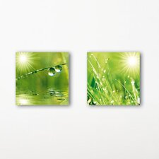 Deco Glass A New Day 2 Piece Photographic Print Set
