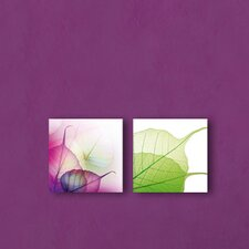 Deco Glass Translucent Leaves Wall Decor (Set of 2)