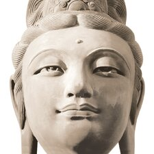 Deco Glass Buddha's Head Photographic Print