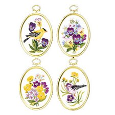 Wildflowers And Finches Embroidery Frames (Set of 4)