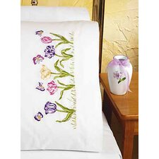 Tulip EMB Pillowcase Stamped Embroidery Pair