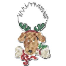 Reindeer Puppy Wizzer Counted Cross Stitch