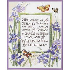 God Grant Me Serenity Stamped Cross Stitch