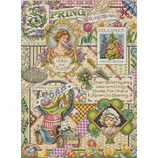 Spring Sampler Counted Cross Stitch