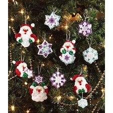 Santa's Snowflake Collection Orn Cross Stitch (Set of 20)
