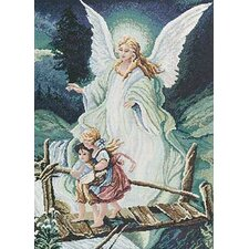 Guardian Angel Counted Cross Stitch