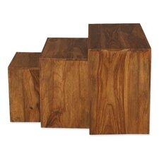 "3-tlg. Beistelltische Set würfelförmig ""Cube Living"""