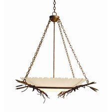 Cattail 6 Light Inverted Pendant