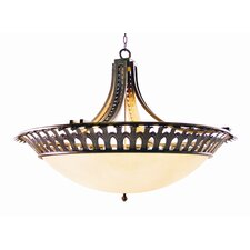 Hampton 6 Light Inverted Pendant