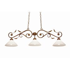 Bordeaux 3 Light Billiard Light